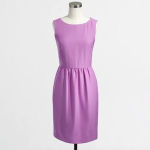 J Crew Orchid Purple Sleeveless Ruche Dress - 4